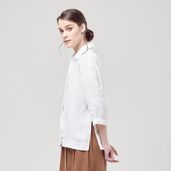 jane sews white shirt