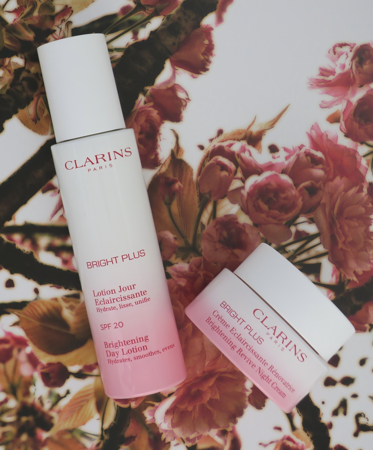 CLARINS BRIGHT PLUS DAY LOTION AND NIGHT CREAM