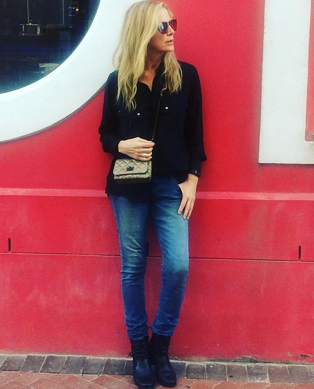 CATHI TREVOR WEARING PESSO BOOTS
