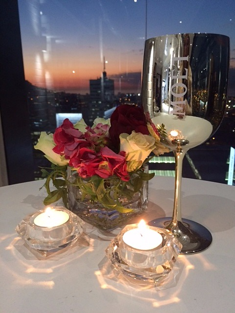 Cape Town skyline for Bvlgari Goldea The Romann Night perfume launch