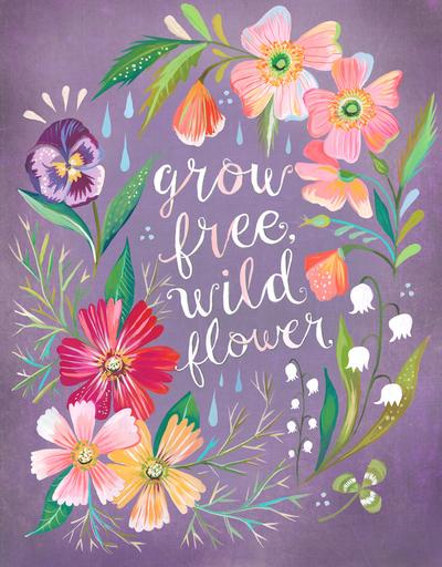 katie daisy illustrator, painter, wildflower