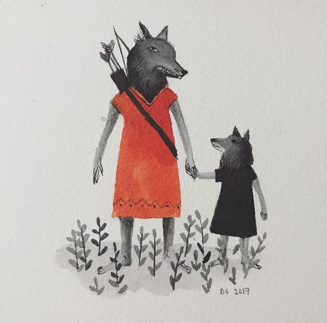 Illustrator & printmaker Diana Sudyka