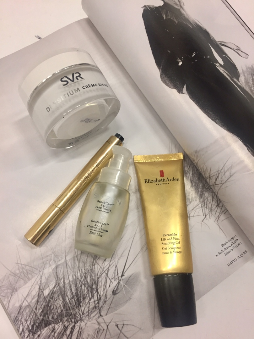 Elizabeth Arden Ceramide Lift and firm Sculpting Gel, YSL Touche Eclat, SVR Creme Riche