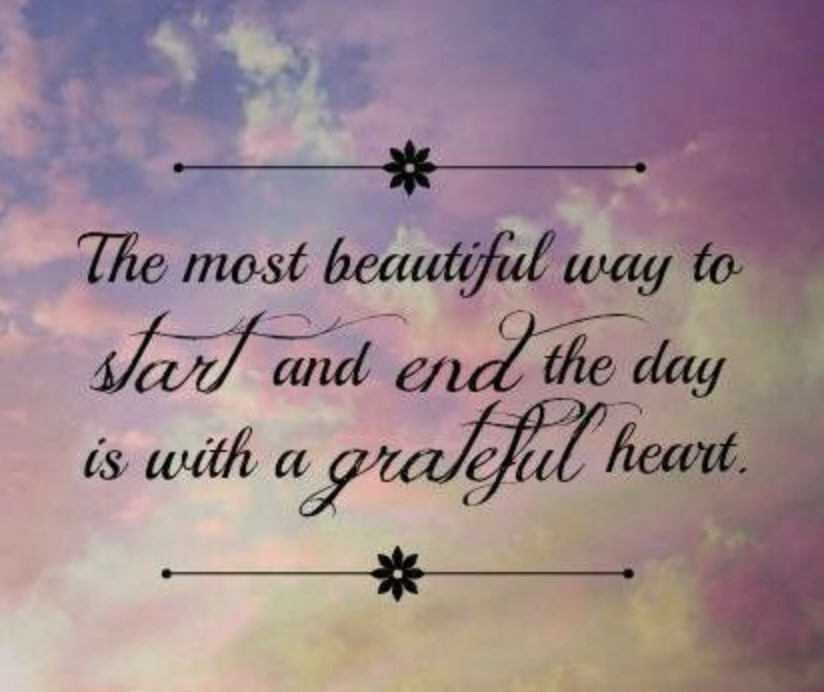 Pinterest quote for grateful heart