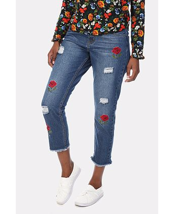 MRP embroidered jeans