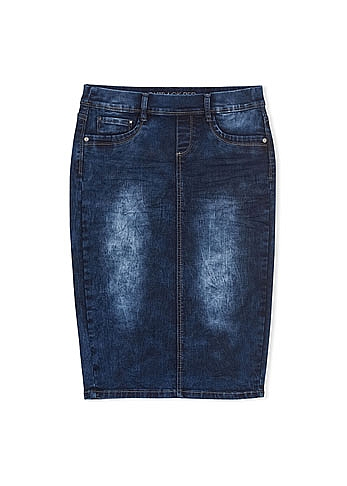 truworths denim skirt