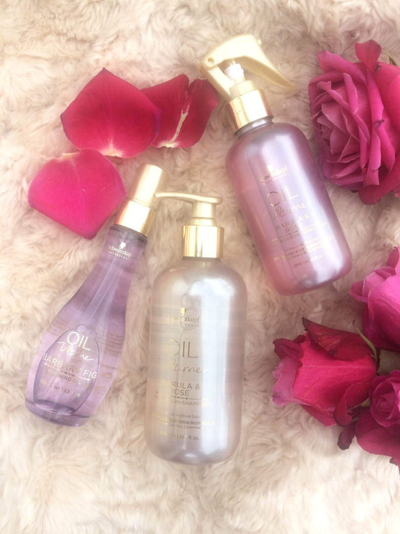 Schwarzkopf Marula & Rose Shampoo and Conditioner and Barbary Fig Oil
