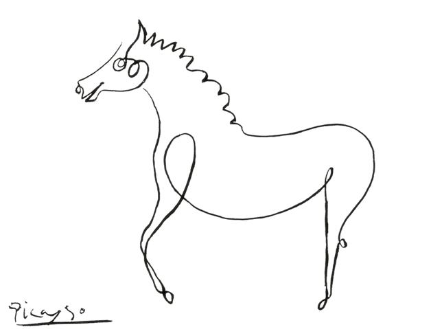 pablo picasso horse drawing