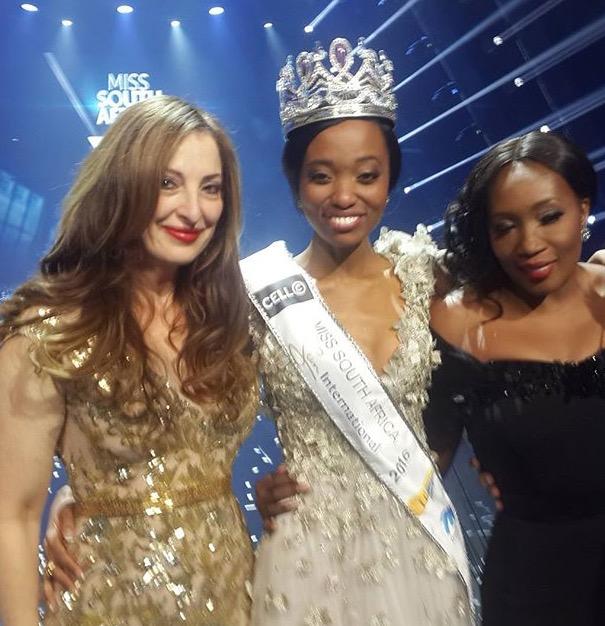Pnina Fenster and Kunene Ntando Miss SA