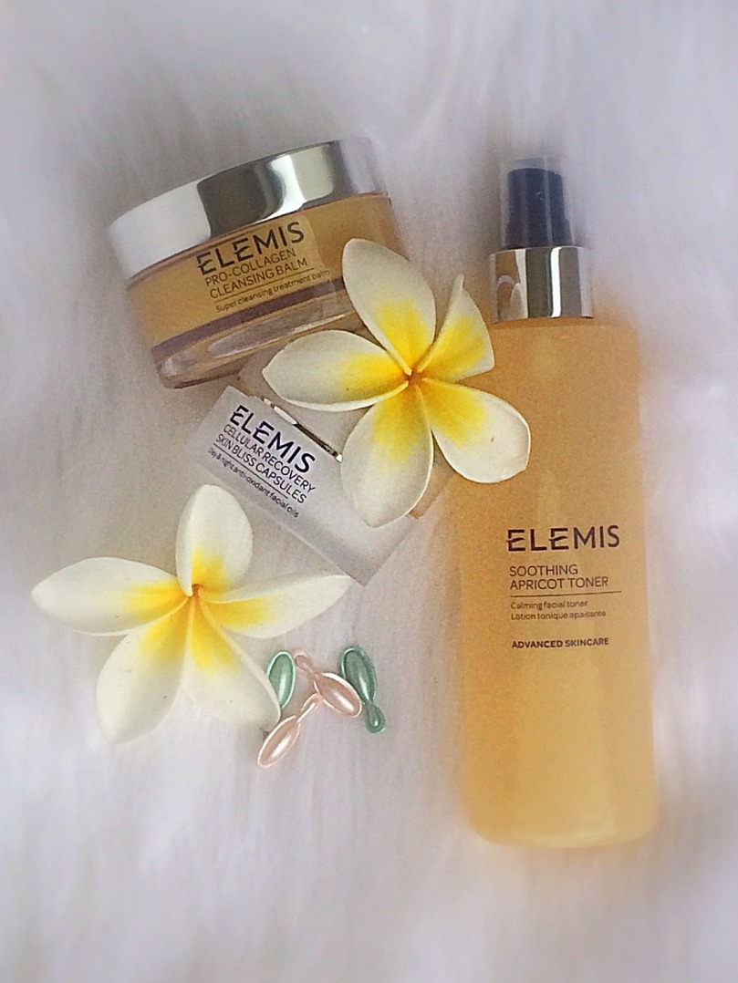 elemis anti-aging cleansing balm and apricot toner