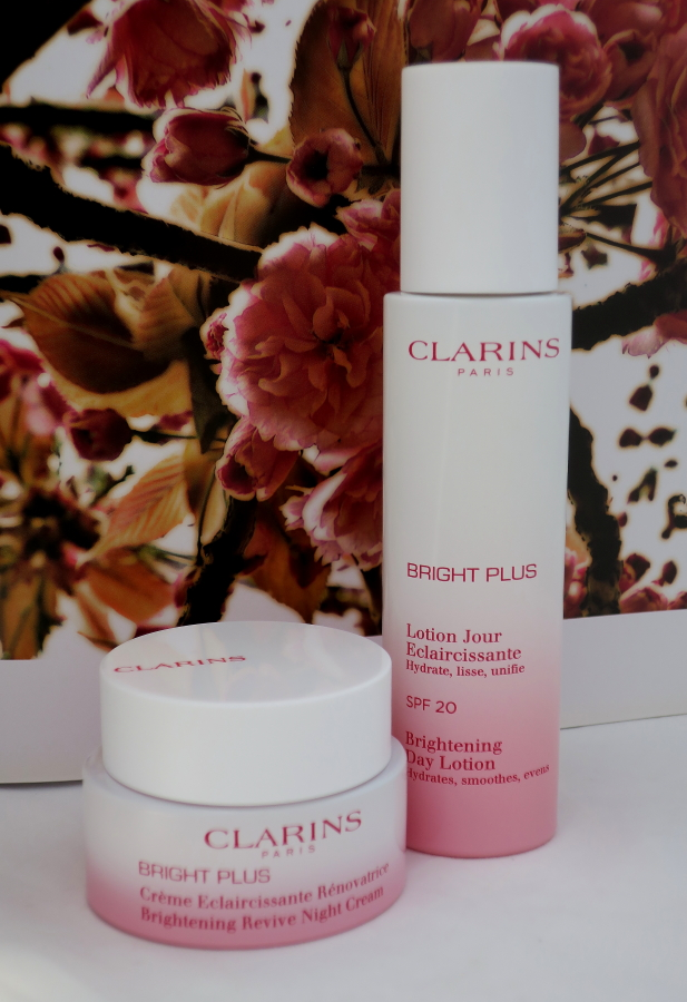 CLARINS BRIGHT PLUS DAY LOTION AND NIGHT CRE