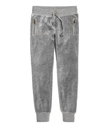 H&M velour pants