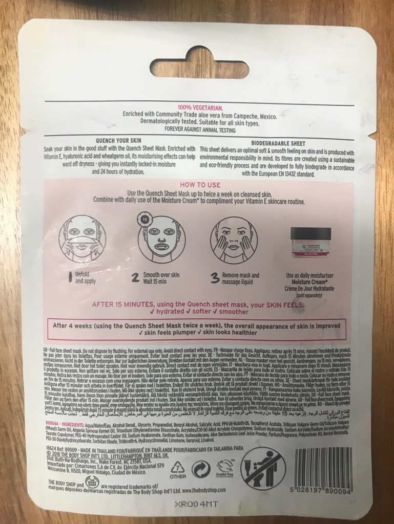 The Body Shop Face Sheet Masks